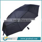 Popular auto open&close windproof glassfiber ribs 3 fold advertising umbrellas for brand promotion