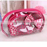 Korean basics cosmetic bag with mirror