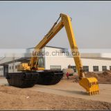Long Arm , Long Boom , Amphibious Undercarriage Floating Excavator , JYSL-350-3