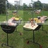 Auplex iron outdoor barbecue cart new bbq smoker professional charcoal picnic bbq charcoal smoker grill NO.AU-CL