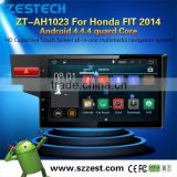 Android 4.4 system car dvd player with reversing camera for Honda FIT 2014