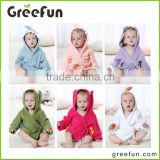 China Factory Promotional Luxury Cute Colorful Animal Baby Bath Towel Hooded Towel Baby Bathrobe Romper