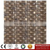 IMARK Wavy Shape Crystal Glass Mosaic Tiles Mix Marble Mosaic Tiles for Wall Decoration Code IXGM8-113