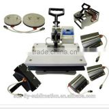sublimation 8 in 1 Combo t-shirt mug cap heat transfer printing press machine (SFS-M06B)