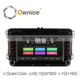Ownice car DVD player for 2 din VW with mp3 player gps audio rds bluetooth multimedia car radio DAB