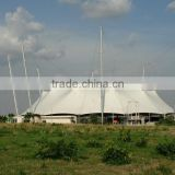 PTFE tensile fabric canopy and architecture membrane structure with cable net supported roofing system in Nigeria