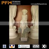 High density housing architecture beautiful girl nude statue