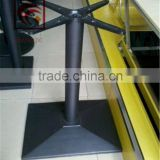 Foshan industry cast iron single column table feet square chassis iron table leg iron cross