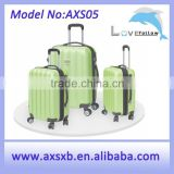 2016 fashionable aluminum jewelry travel trolley case hard case with wheels four wheel trolley