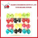 pre-made cute dog bows various color Doggie Boutique pet hair bows for dog grooming product