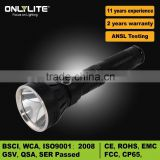 China Manufacturer rechargeable battery XML-T6 bulb flashlight