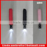 [L011]New arrival, 3 folding automatic open&close LED umbrella with torch handle