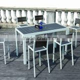 Ireland Non-wood aluminium frame Bar chair and table outdoor furniture