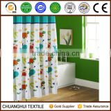 polyester printed with sea animal shower curtain for children