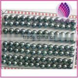 China Dyed Black Cultured Freshwater Pearls Half-drilled Button Loose Pearls