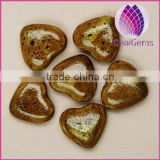2015 whole sale artificial for DIY jewelry making Bead porcelain yellow 26X28mm heart shape 50pcs per bag