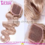 High quality brazilian hair loose wave lace closure middle parting cheap lace front closure
