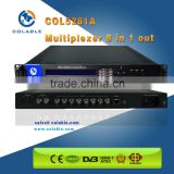 COL5281A Digital mpeg-2 TS re-multlplexing 8 channels ASI input multiplexer