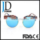 fancy beautiful girls blue light blocked double frame sunglass