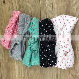Infant Cross Turban Wide Twisted Hair Accessories Baby Polka Dot Hairband Cotton Knitted Headwear Hair Bands