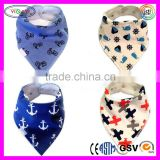 C451 Baby Bandana Drool Bibs for Boys Super Absorbent Cotton Adjustable Snaps Triangle Baby Bib