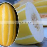 High Quality Hybrid F1 Yellow Peel With Stripes Sweet Melon Seeds For Growing-Improved Gold Inlaid With Jade