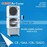 double axial fan water cooler air conditioner with biggest airflow 14000m3/h in showroom