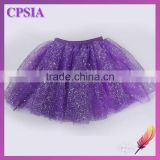 children purple girl glitter flare colorful tutu dress