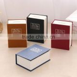 New design lovely nice-looking book shap coin bank, professional wooden cash box,decal wooden money bank