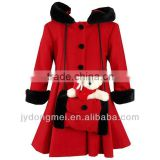 kids wool coat with muff