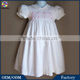 Latest Frock Design Easter Baby Boutique Clothing Handmade Smocked Bishop Dress Sweet Summer Baby Girls Party Dresses