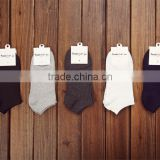 spring summer men cotton ankle Socks for men's business casual solid colors short socks male sock slippers