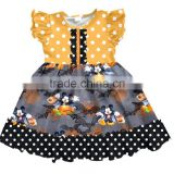 Boutique Girls Frock Designs Baby Children Halloween Mouse Pattern Dress Stylish Modern Girls Dresses