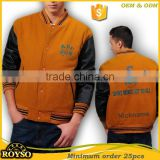 Wholesale Custom Baseball College Varsity Bomber Softshell Cotton Letterman Jacket Leather Sleeves Soft Shell Jacket