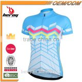 BEROY summer popular por team and club cycling clothing short sleeve,women bike shirts and tops