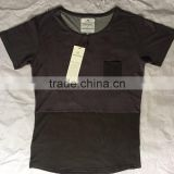 Black Tailored Fitting Men Pocket Two Tone T Shirts