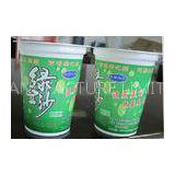 360ml White Disposable Smoothie Cups For Yogurt , Mung Bean Soup Cups
