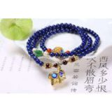 NEFFLY Natural Blue lapis lazul925 Sterling Silver 5mm European Asian Style Beaded Strands Bracelets Elephant Gift Artificial