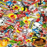 Factory Outlet Dazzle Sticker Bomb Pattern No.DGDB8016 Water Transfer Printing Film Hydrographic Film