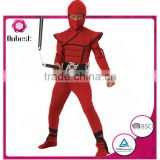 Red ninja warrior costume for kids wholesales carnival costume cosplay costumes for boys