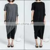 Asymmetrical Draped Ann Original Design Retro Silhouette Dress Kaftan Deconstruction Design Dress Tunic