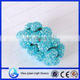 2014 fashion Blue diamond ball elastic bracelet