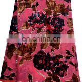 Fashion african beautiful design velvet lace fabric