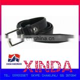102 x 3cm Genuine Leather Belt with 50 x 35mm Alloy Buckle with One Rivet, OEM Orders Welcomed
