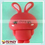 3d cute rabbit pvc usb flash drive,rabbit pen drive