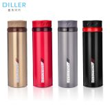 500ml white dark brown double wall stainless steel sealed insulated thermos vacuum water bottle