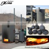 Bamboo wood charcoal carbonization stove carbonizing kiln furnace/charcoal biomass stove working line manufacturer