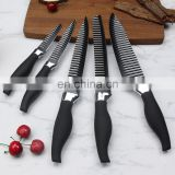 Sawtooth non stick black kitchen knife set