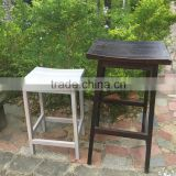 DESIGNER acacia wood outdoor dinning chair - PU color black chair grey wash- vietnam outdoor furniture products