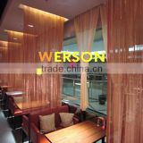 TRANSPARENT STAINLESS STEEL CURTAIN PANELS for Architecture ,shopping malls, airport,office,room | generalmesh